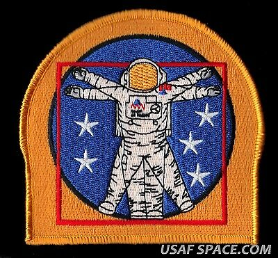 "NASA 5-STAR Vitruvian Man EVA SPACE WALK SHUTTLE ISS GSFC 4"" SPACE PATCH - MINT*"