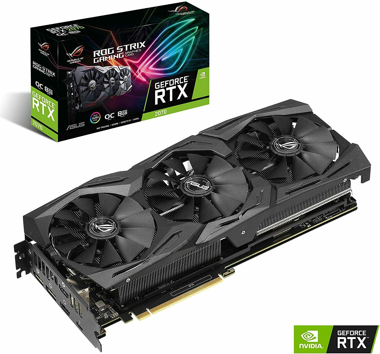 Asus rog strix geforce rtx 2070 gddr6 8 go carte graphique (trusted seller✅)