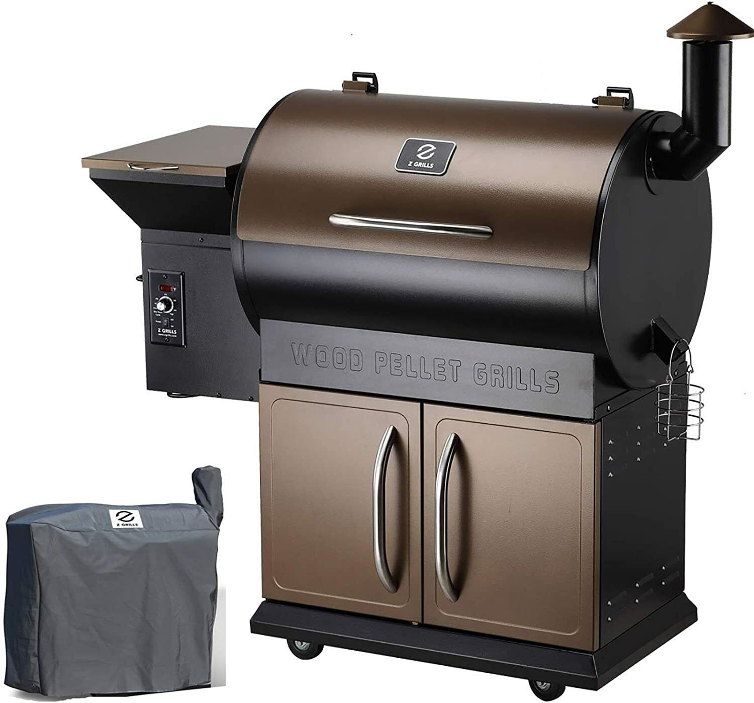 Z GRILLS 2021 Upgrade Wood Pellet Grill& Smoker 8 in 1 BBQ Grill& Free Cover 700