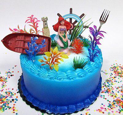Little Mermaid PRINCESS ARIEL Birthday Cake Topper Set   ****BRAND NEW****