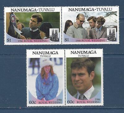 TUVALU-NANUMAGA - 71-72- MNH - 1986 -ROYAL WEDDING PRINCE ANDREW/SARAH FERGUSON