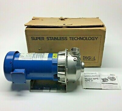 New Goulds 3st1h5b4 Centrifugal Pump W Motor 3hp Stainless Steel Pump 3-phase
