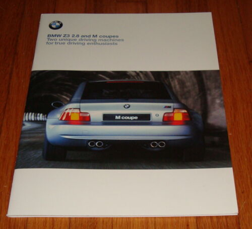 Original 2000 BMW Z3 2.8 and M Coupe Sales Brochure