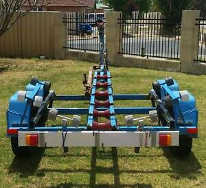 Boat trailer unlicenced, suit up to 6m boat