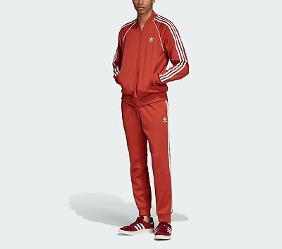 Adidas ADICOLOR SUPERSTAR TRACK SUIT Jacket Sweat Shirt Top & PANT firebird~Sz -