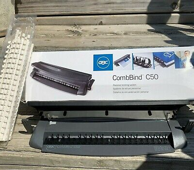 Combind C50 Personal Binding System And 58 Spines Book Maker In Box Teacher