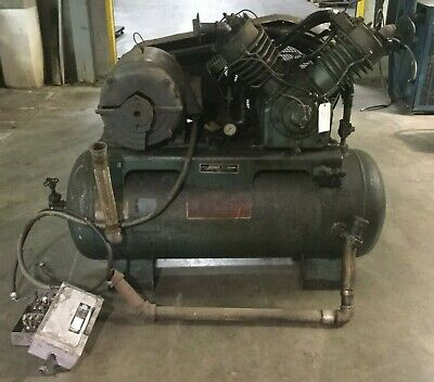Kellogg-american Two Stage Air Compressor Model Db462a 25 Hp  Motor Damaged