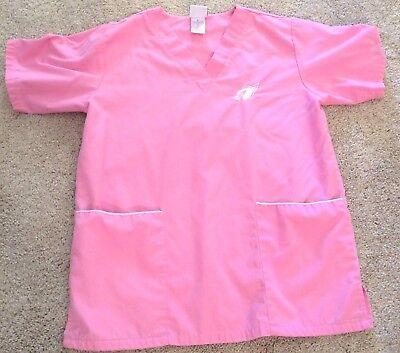 Arizona Cardinals Team Apparel Nurse Scrubs NFL Pink Size S Small (Arizona Scrubs)