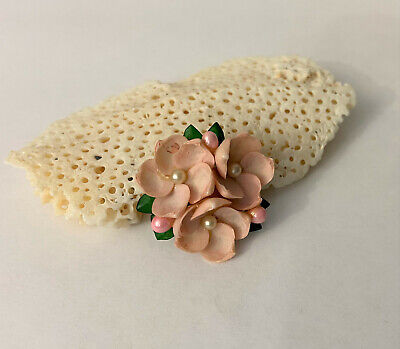 Vintage Handcrafted Pink Sea Shell Flower -