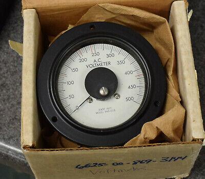 Mos Military Mep Generator Ac Output Volt Meter 343-003 69-599 500v Voltmeter