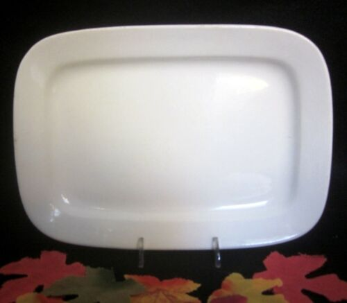 """Antique White Ironstone Small Square 11"""" Platter Marked Warranted Excellent!"""