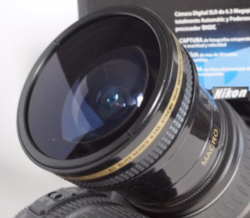 Ultra Wide Angle Macro Fisheye Lens for Canon Eos Digital Rebel & T3i w 18-55 IS