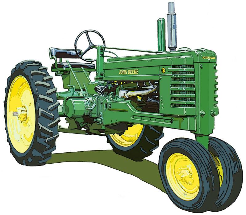 John Deere Late Styled Model B canvas art print by Richard Browne farm tractor