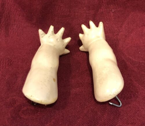 Pair of Antique German Composition Starfish Hands / Arms