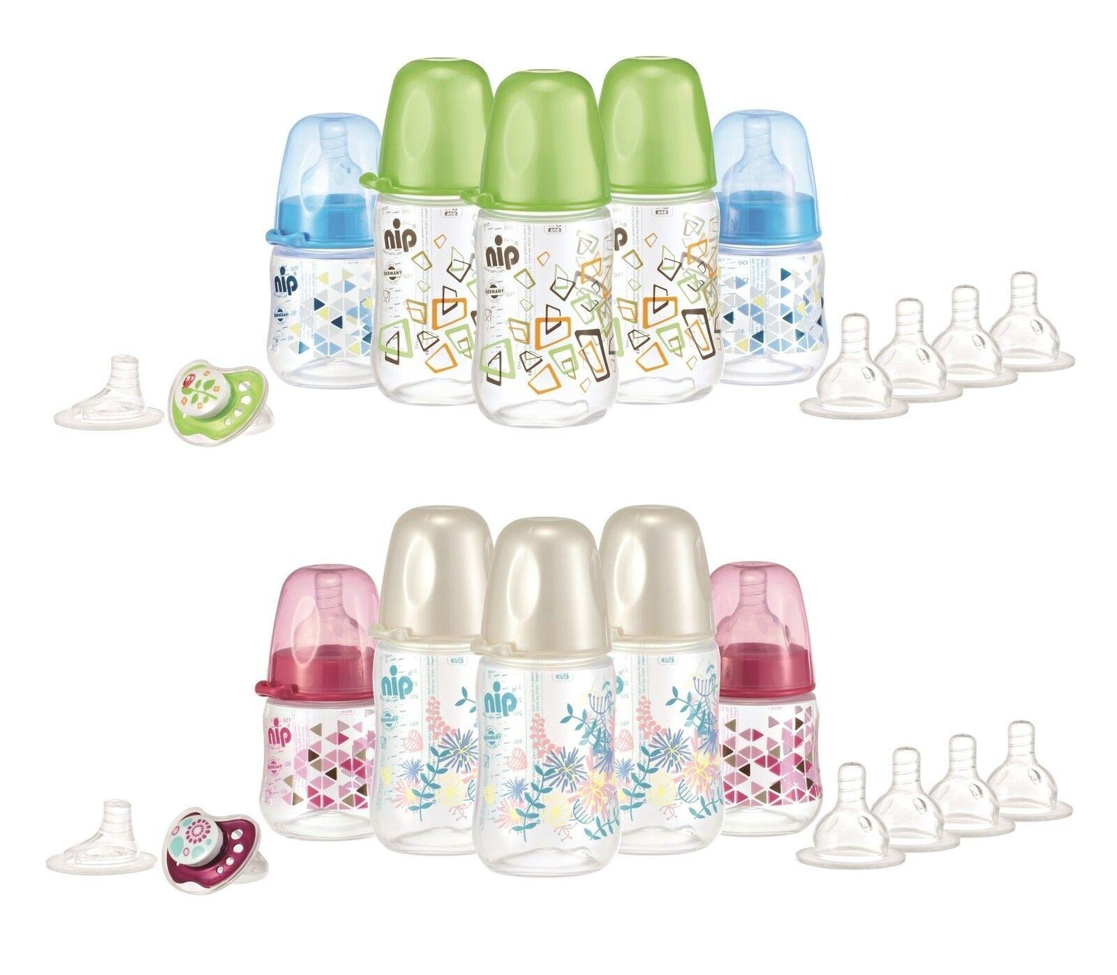 nip Baby Starterset Babyflaschenset Flaschenset zur Geburt 11 teilig *NEU*