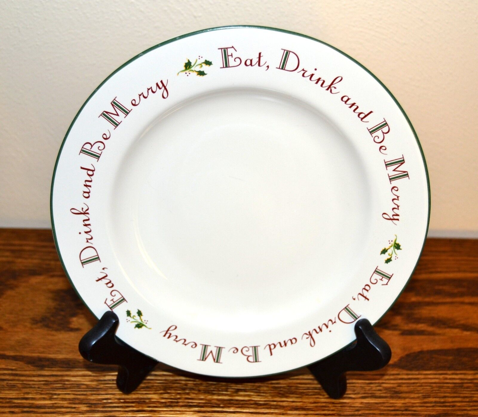 Home Holly Berry Salad Plate Be Merry Christmas - $7.00
