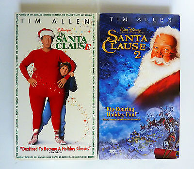 The Santa Clause and The Santa Clause 2 (1 & 2) VHS Lot of 2 Tim Allen - Santa Rental