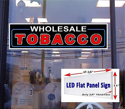 Led Sign Tobacco Shop Window Sign 48x12 Neon Banner Alternative New Generation