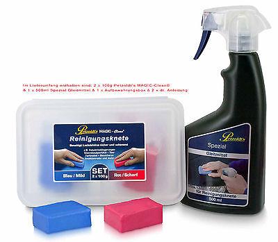 Petzoldts Reinigungsknete-Gleitmittel 2er Pack - zur Lackreinigung & Lackpolitur