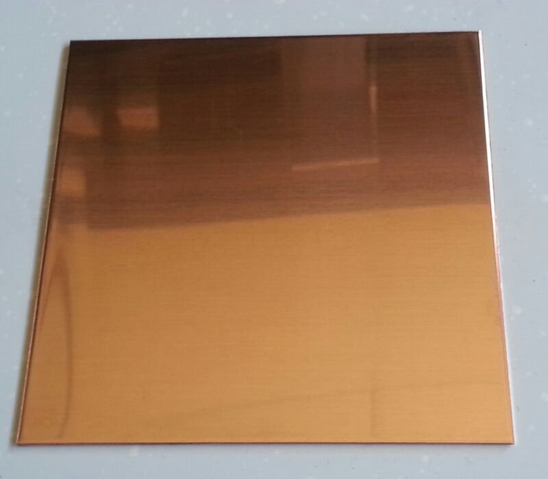 "48 oz. 1/16"" Flat Copper Sheet Plate 6"" x 12"""