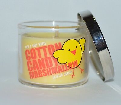 NEW BATH & BODY WORKS COTTON CANDY MARSHMALLOW MINI SCENTED CANDLE 1.3 OZ CHICK - Custom Candles