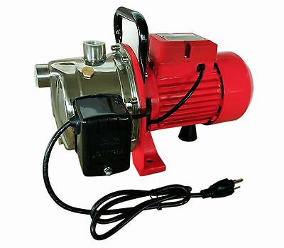 Shallow Well Jet Pump w/Pressure Switch, 3/4HP 14GPM, Stainless Steel 115/230V