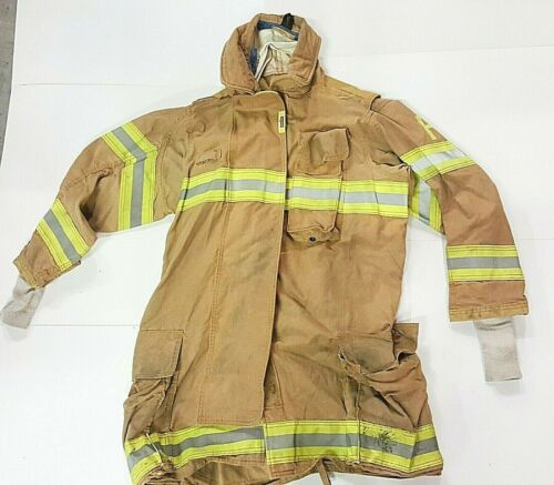 44x35 44T Securitex Brown Firefighter Jacket Turn Out Gear No Liner JNL-54