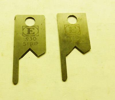 Set Of .930 Strip Blades - Eubanks 2600 2700 Wire Stripper