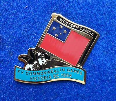 (Western Samoa Colorful Country Flag ~ Orca Killer Whale Tack Back Lapel Pin)