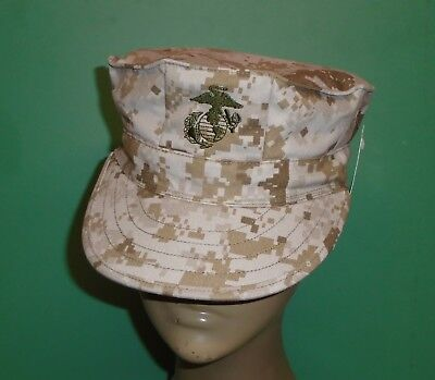 US Military Issue Marine Corps USMC 8 Point Desert Marpat Camo Cover Hat Cap S ()