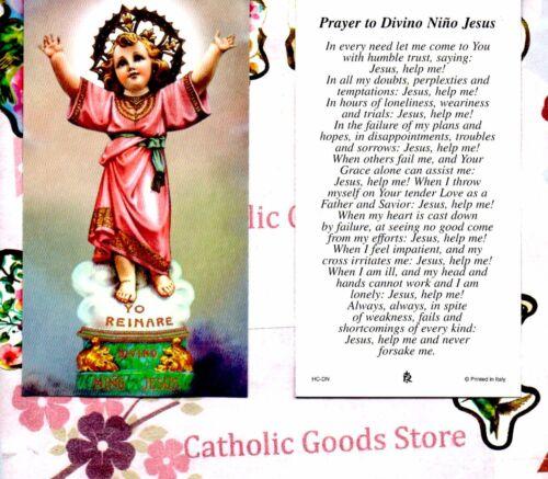 Divino Nino Jesus with Prayer to Divino Nino Jesus - Paperstock Holy Card