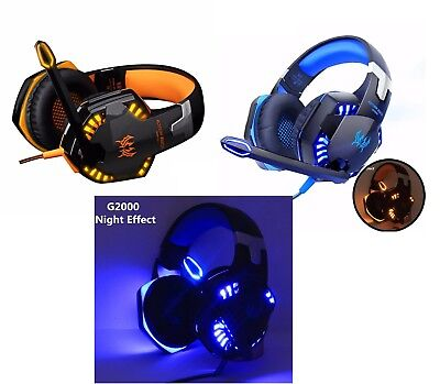 Professional 3.5mm PC LED Light Gaming Bass Stereo Over-ear Headset Kopfhörer 3,5-mm-pc