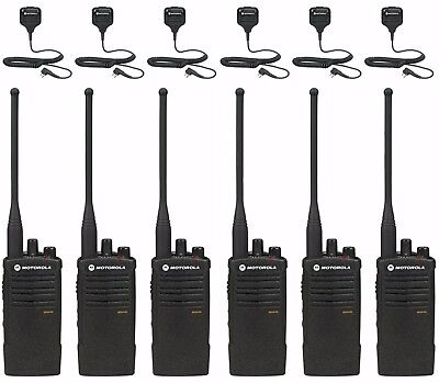 6 Motorola Rdu4100 Radios With Remote Mics. Rebate For A Free Multi-unit Charger