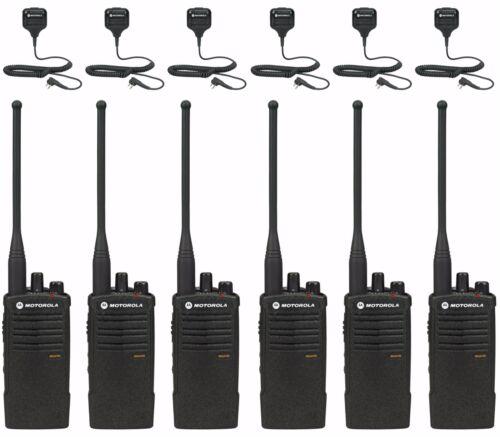 6 Motorola Rdu4100 Uhf Two-way Radios With Remote Mics. Buy 6 Get One Free!!