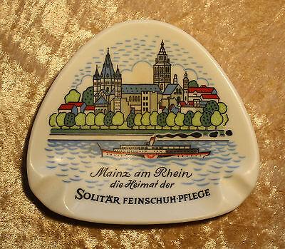 Mainz am Rhein die Heimat der SOLITÄR Feinschuh-Pflege-Ornamin 1960/70er Jahre