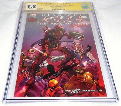 Deadpool Kills the Marvel Universe Again #1 CGC SS Signature STAN LEE & LIEFELD