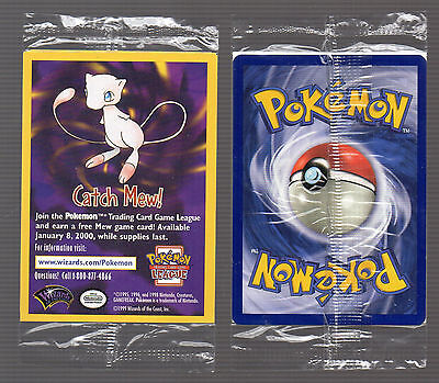 👀 PoKeMoN 2000 Movie RARE PROMO CATCH MEW Single Card Factory SEALED Nintendo