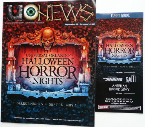 2017 UNIVERSAL SCREAM MEMBER PREVIEW NEWS + EVENT GUIDE HALLOWEEN HORROR NIGHT