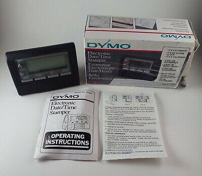 Vintage Esselte Dymo 47000 Electronic Date Time Datemark Stamper In Orig Box