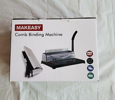 Makeasy Binding Machine 21-hole 450 Sheet Paper Punch Binder With Starter Kit