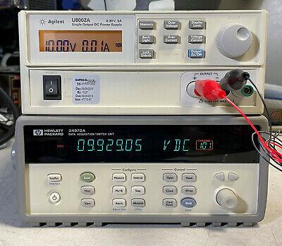 Agilent Hp 34970a Data Acquisition Data Logger Switch Unit W 6.5 Digit Dmm