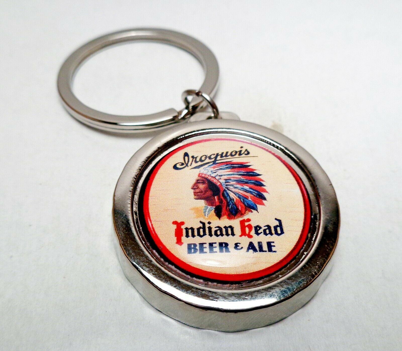 IROQUOIS Beer Can / Bottle Cap Opener Key Chain / Key Ring H