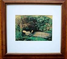 Wood Frame w Glass and Mount - Ophelia by Millais Glen Iris Boroondara Area Preview