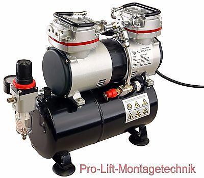 2 Zyl. Airbrush Kompressor AS-196 Start Stop Automatik Airbrushkompressor 01764