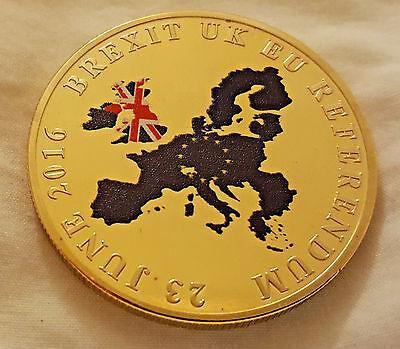 Brexit Gold Coin Britians European Union Exit Leaving Europe Referendum Vote EU