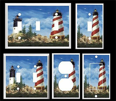 Lighthouse Light Switch Covers - LIGHTHOUSE NAUTICAL SEAGULLS  #30  LIGHT SWITCH COVER PLATE   YOU PICK  SIZE