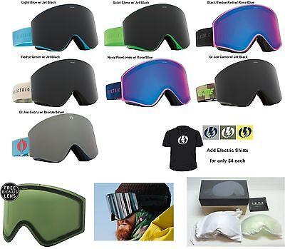 578779273e28 Electric EGX Matte Black Silver Mens Frameless Ski Snowboard Goggles RT for  sale online