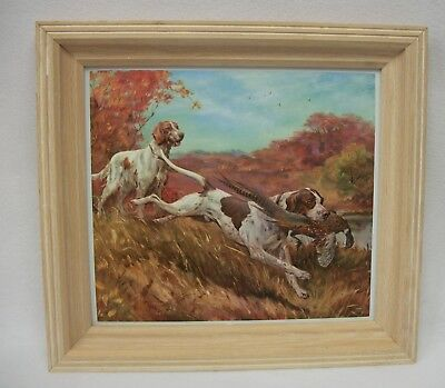 Good Workers by Stan Fenelle Pointer Bird Hunting Dogs 3D Embossed Framed Print