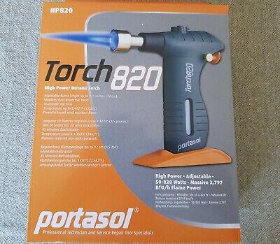 Portasol Hp820 High Power Butane Torch 50-820 Watts 2797 Btuh Flame Power
