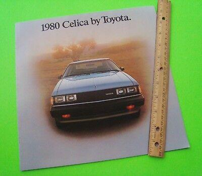 1980 TOYOTA CELICA HUGE DLX (prestige?) COLOR CATALOG Brochure CELICA GT nr-MINT